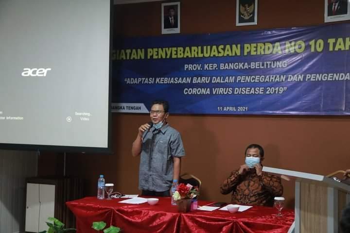 H. Mulyadi Anggota Komisi II DPRD Babel Sampaikan Perda Covid Ke Masyarakat