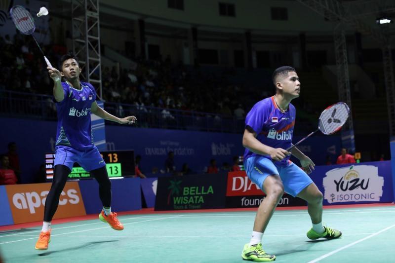 Frengky/Rian Singkirkan Unggulan Satu Thailand di Babel Indonesia Masters 2018