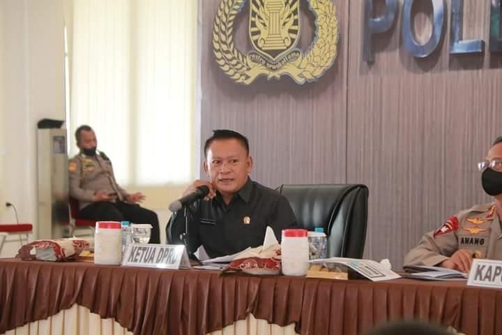Ketua DPRD Kep. Babel Hadiri Rapat Koordinasi Penanganan Covid-19