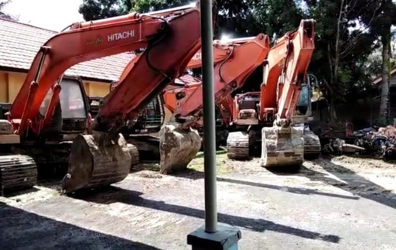 Amankan Barang Bukti Tambang Ilegal di Kecamatan Membalong, Bareskrim Polri Bawa Sampel Pasir Timah Ke Jakarta