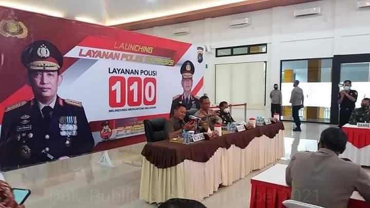 Ketua DPRD dan Forkopimda Kep. Babel Saksikan Launching Layanan Polisi 110