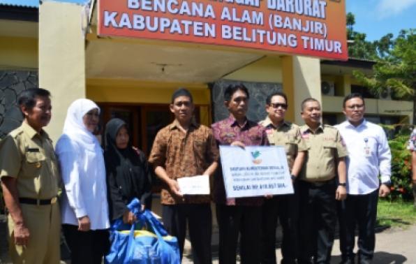 Menteri Sosial Tinjau Banjir Belitung