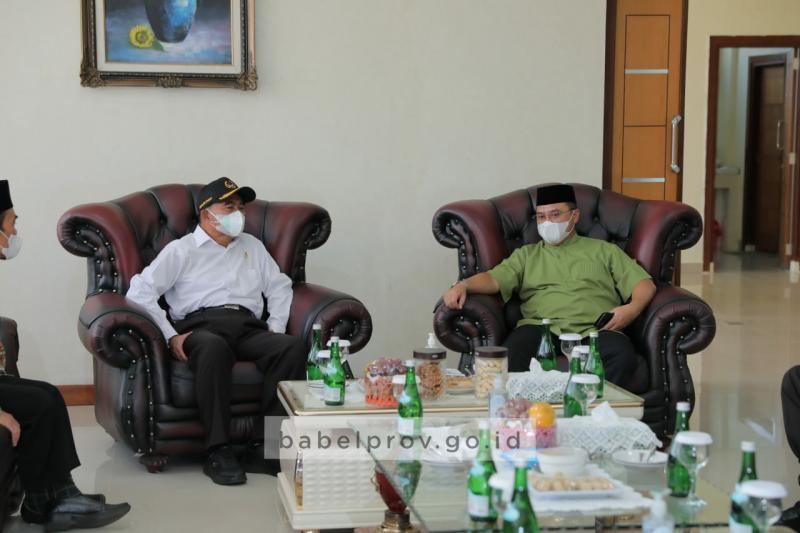 Gubernur Laporkan Perkembangan Realisasi Vaksinasi Covid-19 ke Menko PMK