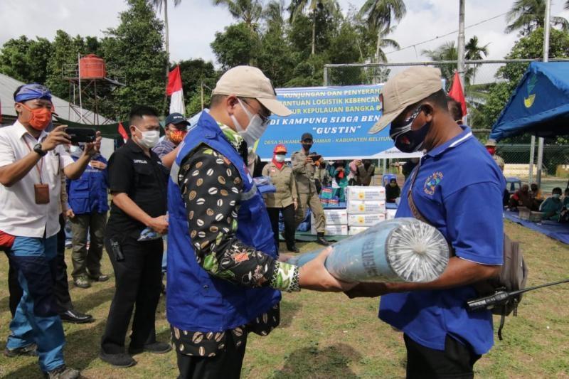 Gubernur Erzaldi Sahkan Desa Sukamandi Sebagai Kampung Siaga Bencana