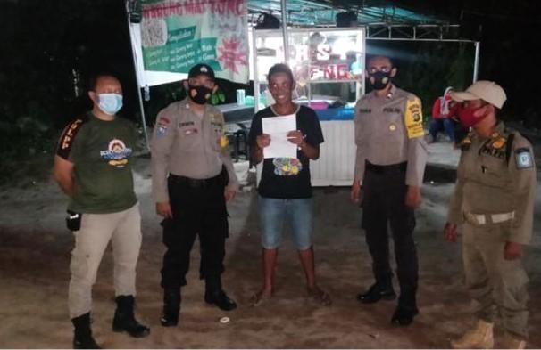 Patuhi Protokol Kesehatan Himbauan Polsek Riau Silip ke Masyarakat