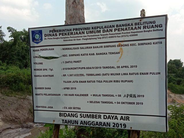 Proyek Normalisai Simpang Gedong asal jadi kata anggota DPRD BABEL