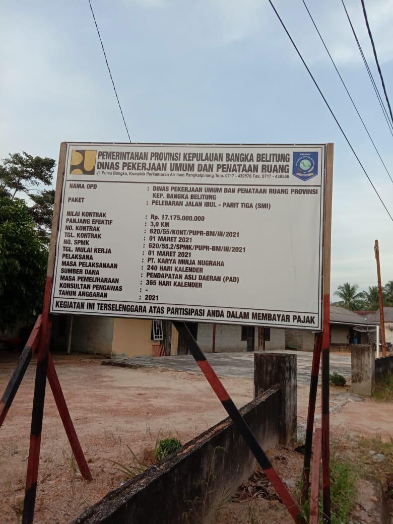 Sedaaapp.. Rp 121 Miliyar Pinjaman PT. SMI Diembat Satu Vendor Dalam Proyek Jalan