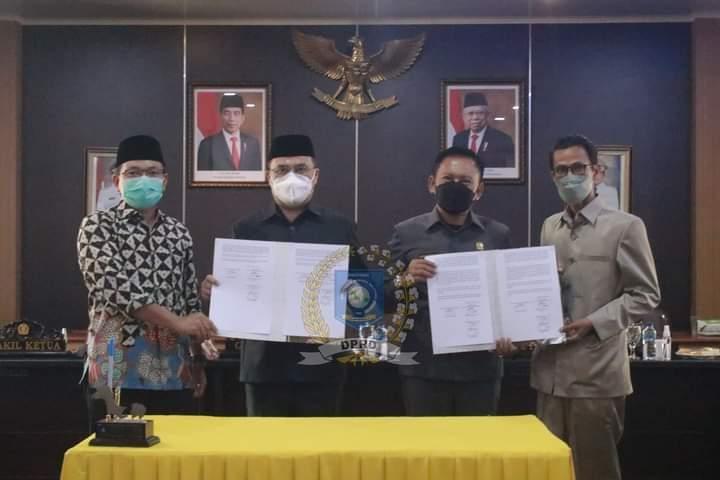 DPRD Babel Bersama Gubernur Sepakat Teken MOU Perubahan KUA dan PPAS 2021