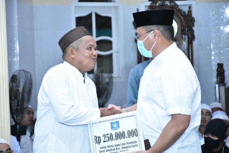 Peringati Maulid Nabi, Gubernur Erzaldi Berikan Bantuan Untuk Masjid An Nur