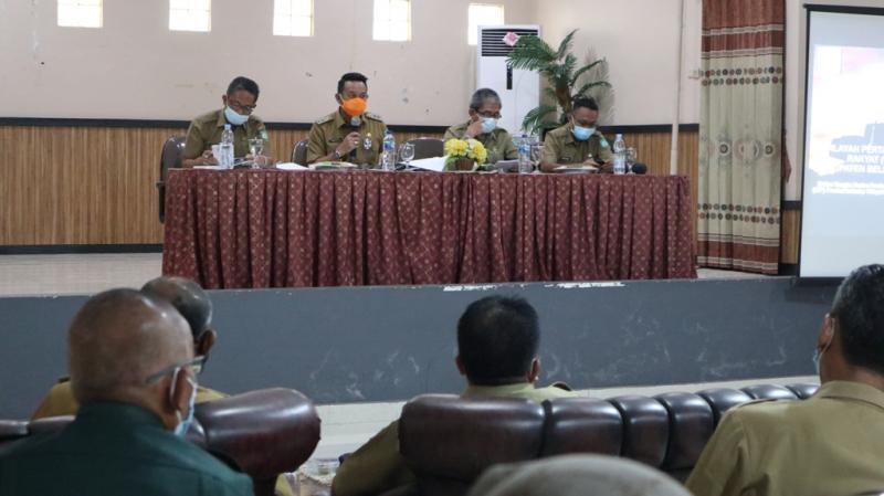 Wabup Belitung Timur Pimpin Rapat Pembahasan WPR, Ada 3 Point Yang Dapat Disimpulkan