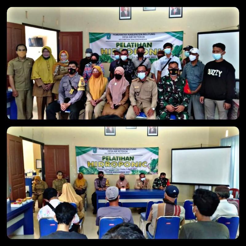 Pemerinah Desa Air Ketekok  Bersama Dinas  Pertanian Kabupaten Belitung Selenggarakan Kegiatan Pelatihan Pertanian Hidroponik