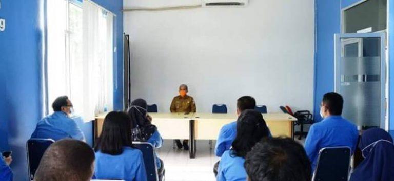 Walikota Kerja Bakti Bersama di PDAM Tirta Pinang