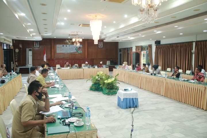 Pansus DPRD BABEL Bersama Kasubdit Wilayah I Direktorat Produk Hukum Kemendagri RI Membahas Raperda