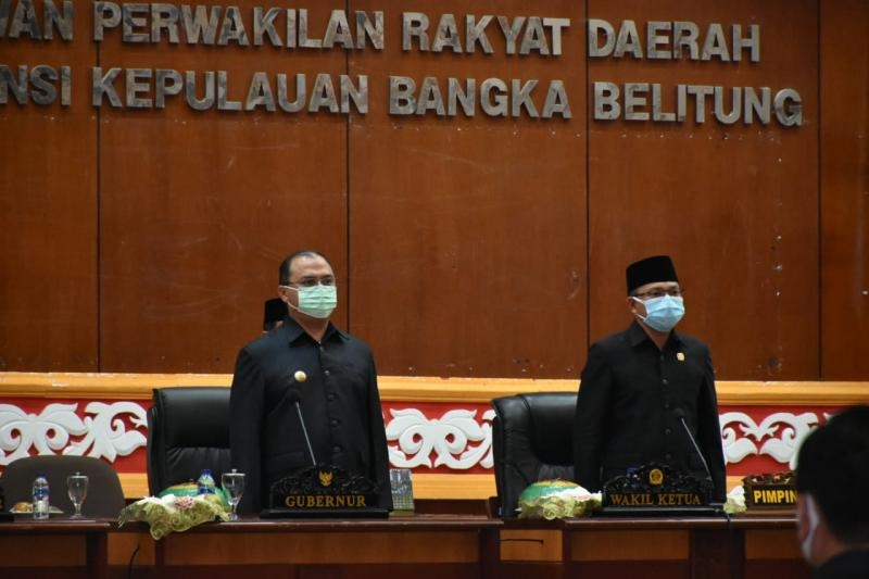 Gubernur Erzaldi Sampaikan Rancangan APBD 2021