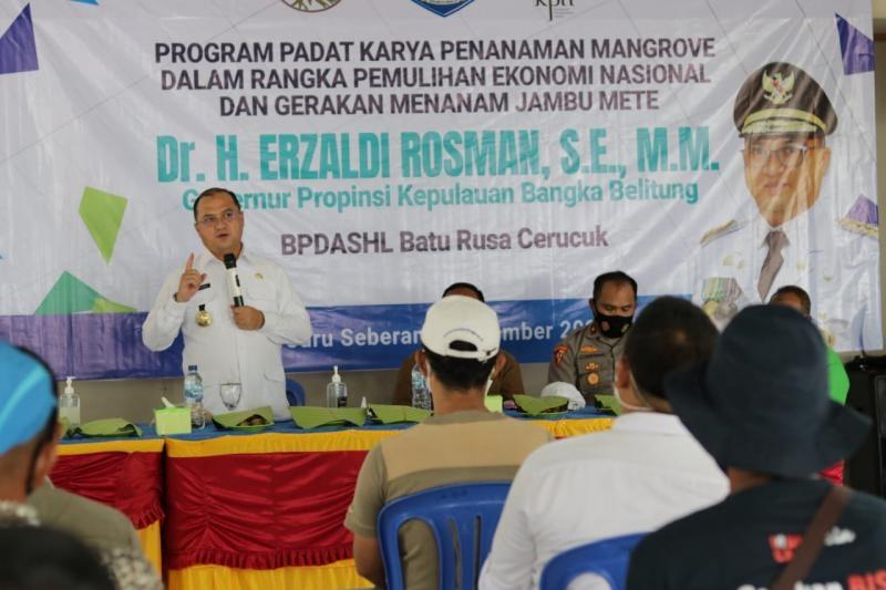 Program Padat Karya Pemprov. Babel Kali Ini Sasar Kawasan Gusong Bugis Belitung