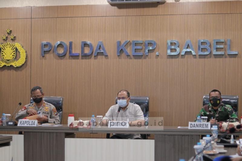 Gubernur Erzaldi Apresiasi TNI-Polri dalam Pelaksanaan Vaksinasi Covid-19