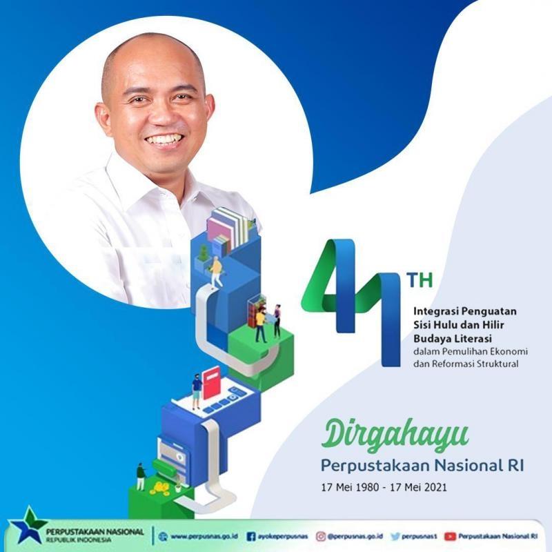 Walikota Pangkalpinang Maulan Aklil Mengucapkan Dirgahayu Perpustakaan Nasional Republik Indonesia