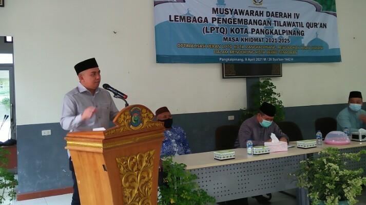 Walikota Buka Musda IV LPTQ Kota Pangkalpinang