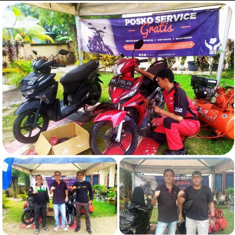 Mantap, Yamaha Gelar Promo Servis Gratis di Desa Aik Ketekok