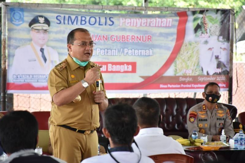 Gubernur Erzaldi Gencar Sosialisasikan KUR Untuk Para Petani Babel