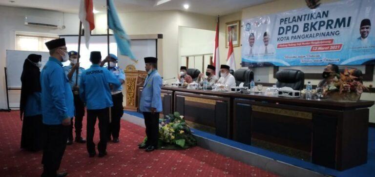 Walikota Hadiri Pelantikan DPD BKPMRI Periode 2021-2025