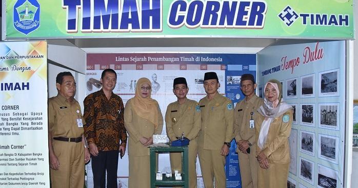 Bupati Bangka Lauching Timah Corner