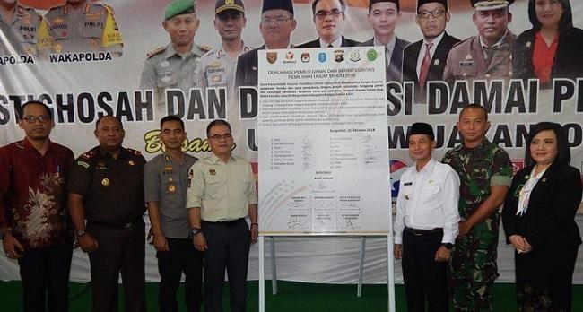 Pemilu Damai Berintegritas Dideklarasikan di Kabupaten Bangka