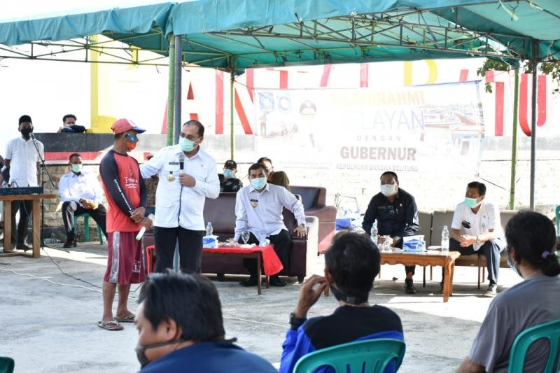 Kunjungi Bangka Barat, Gubernur Erzaldi Buka Dialog dan Sosialisasikan KUR