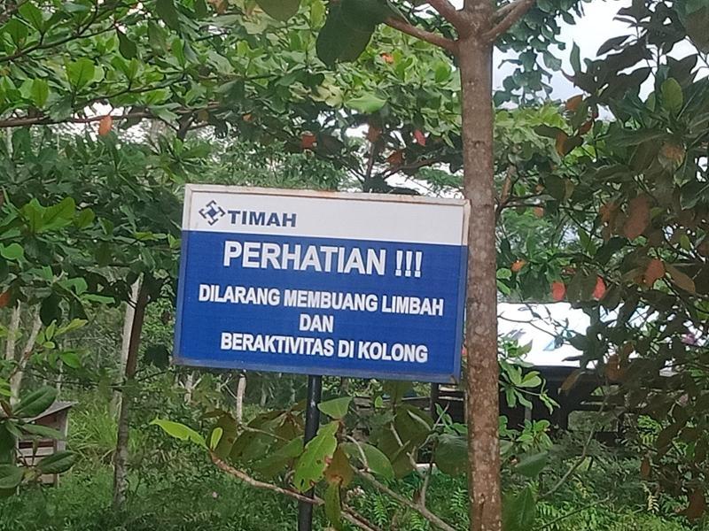 Timah ilegal Desa Pedindang di Tampung Oknum Aparat