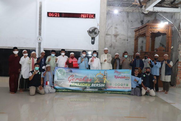 Wabup Bangka Bersama BKPRMI Canangkan Gerakan Masjid Bersih Dibulan Ramadhan