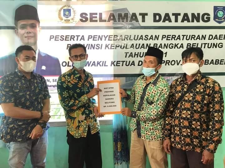 Penyebarluasan Perda, Wakil Ketua DPRD M Amin Mengajak Masyarakat Vaksinasi
