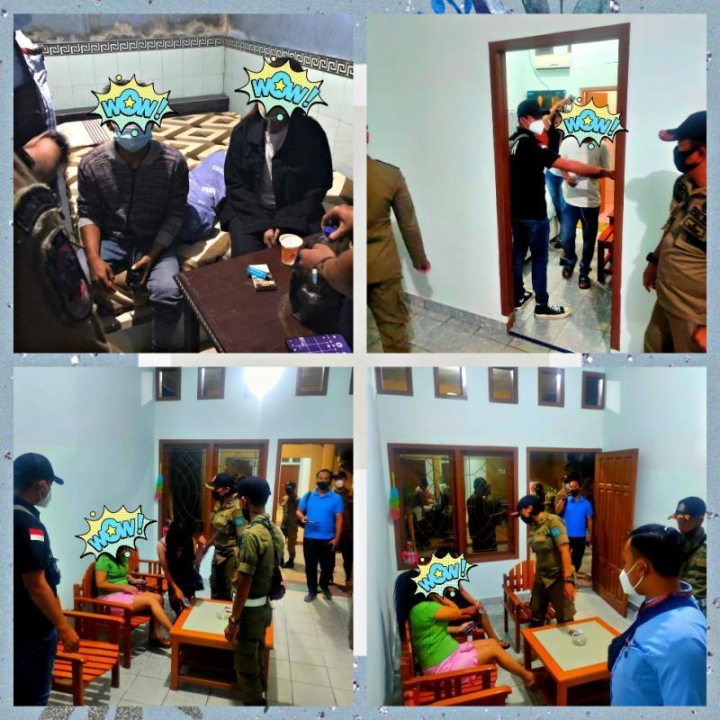Empat Pasangan Bukan Suami Istri, Berhasil Di amankan Sat Pol PP Kabupaten belitung