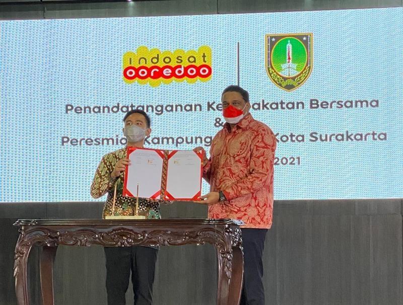 Dukung Pemulihan Ekonomi, Indosat Ooredoo Hadirkan Kampung Digital di Kota Surakarta