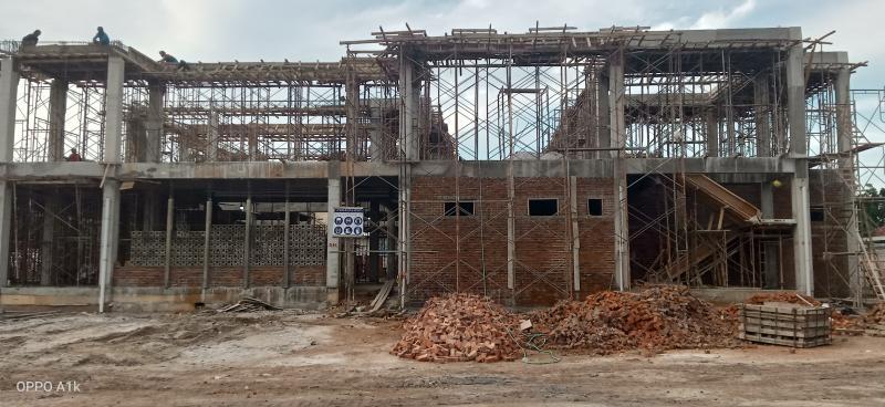 Proyek Rp 20 Miliar Pembangunan Gedung Baru Kejari Koba Terancam Molor ?  Kontraktor Optimis Pekerjaan Selesai Tepat Waktu