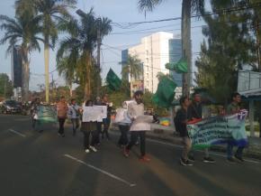 Ciptakan Demokrasi Kondusif, HMI Babel dan GMKI Pangkalpinang Gelar Long March di ATM Pangkalpinang