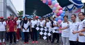 Bupati Bangka Melepas Jalan Sehat Fun Walk 2018