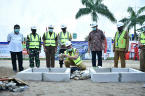 Gubernur Erzaldi Letakkan Batu Pertama Pembangunan Rumah Sakit Covid-19 Babel