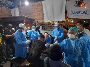 Pemerintah Kota Pangkalpinang Bersama TNI Dan Polri Terapkan Disiplin Prokes di wilayah kota  Dengan Mendatangi Warung Kopi