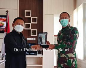 Ketua DPRD Herman Suhadi Pererat Silahturahmi Kebangsaan Bersama (Danrem) 045/Garuda Jaya