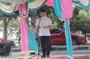 Gubernur Erzaldi Lepas Ekspor Perdana 10.000 Ton Cangkang Sawit