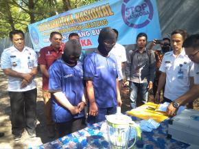 BNNP Babel Musnahkan 400 Gram Narkotika Jenis Sabu