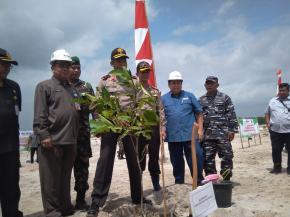 PT Timah Dan Kapolda Reklamasi Area Seluas 2,5 Hektar