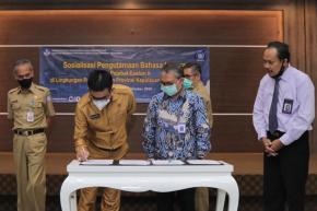 Pejabat Eselon II Pemprov. Babel Ikuti Sosialisasi Pengutamaan Bahasa Indonesia