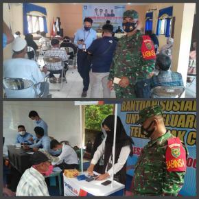 Babinsa Koramil 414-01/Tanjungpandan Pantau Pemberian BST