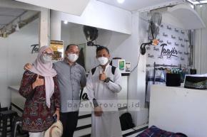 Gabungkan Tren Fesyen dan Islam, Gubernur Erzaldi dan Istri Kunjungi Taajir