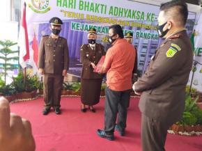 Wakil ketua DPRD Mendra kurniawan  Hadiri Syukuran Hari Bhakti ke 60 Adyaksa(HBA) KEJARI Bangka