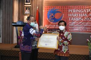 Babel Raih Penghargaan Pendorong Daerah Peduli HAM