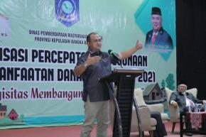 Gubernur Erzaldi Minta Pembangunan Desa Selaras Dengan Visi Pembangunan Daerah