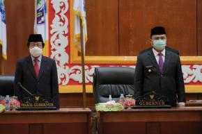 Gubernur dan Wagub Babel Hadiri Pelantikan Pengganti Antar Waktu Anggota DPRD Babel