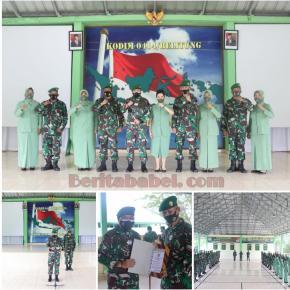 Dandim 0414/Belitung Melepas Prajurit Yang Memasuki Purna Tugas  Tanjungpandan, Kodim 0414/Belitung